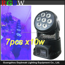 wash stage moving head led lighting DJ Club 7pcs RGBW mini led moving wash light