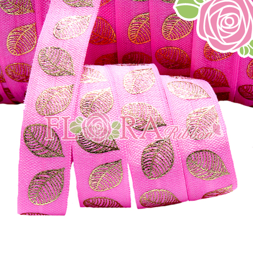 New Arrival Shiny SIlver Foil Fold Over Elastic Satin Ribbon