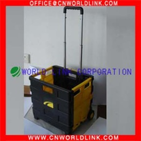 Foldable plastic transparent box with wheels