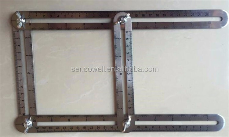 New Multi Angle stainless steel Ruler Measures All Angles Angle-izer Template Tools
