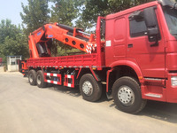 CHINA 20 ton EURO 2 hydraulic truck crane hot sale in Cambodia 12 wheel truck mounted crane with high quality