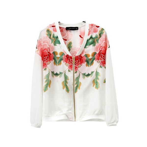 Sweaters For Women Flower Print Casual Cardigan