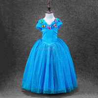 2016 new modern cosplay fancy dress girl birthday party cinderella girls princess dress for kids