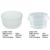 PS 110ml High quality food grade unbreakable clear plastic dessert cups