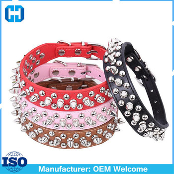 Dog Collars Cat Puppy Leather Collars Neck Buckle Adjustable Buckles