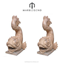 Fashion design customized marble stone fish sculpture
