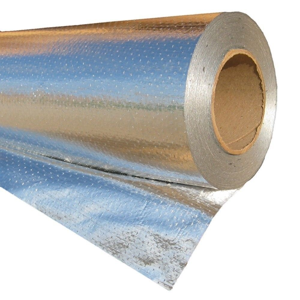 Perforated-radiant Barrie Aluminum Foil Coated Woven Fabric, Used for Roof/Wall Insulation