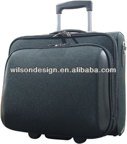 leather laptop trolley bag
