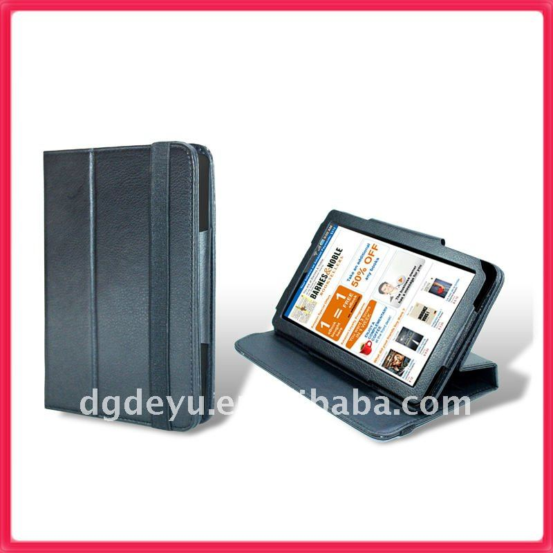 "Black Leather Folio Stand Cover Case For New Amazon Kindle Fire 7"" Tablet 2011"