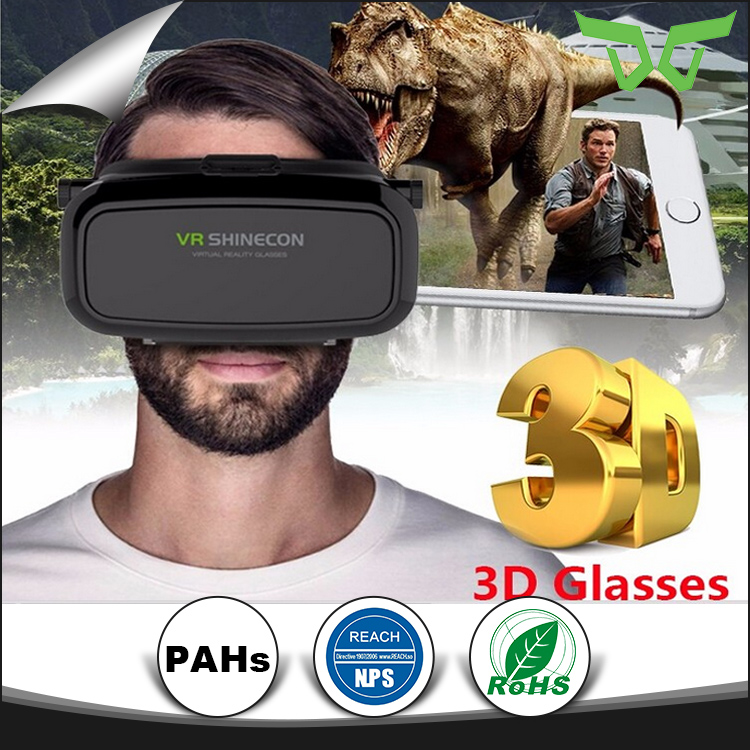 HIGH QUALITY vr box online sale, 3D VIDEO CARDBOARD VIRTUAL REALITY VR SHINECON GLASSES HEADSET For 3.5 to 6.0 Inch Phones