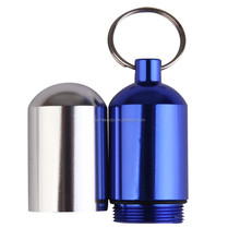 Large Aluminum Waterproof Outdoor Survival Medicine Gallipot Box / Drug Bottle / Keychain Holder Pill Container