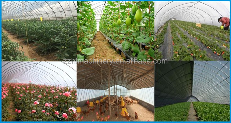 Cheap plastic agricultural hot galvanized steel arch truss high tunnel greenhouse