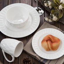 2017 most popular design ceramic dinnerware sets 30pcs stocked porcelain dinner set