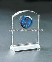 Round Cut Crystal Desk Clock, Wedding Favor Crystal Clock