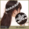 2016 New Women Girl Bridal Pearls Beads Crystal Headband Rhinestone Wedding Hair Band
