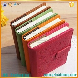 Handmade Notebook PU Leather cover,Cheap Hardcover Pocket Notebook