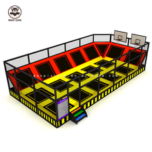 Basketballkorb Gymnastik Trampolin Himmel Zone Professionelle Trampolin Park Indoor