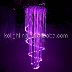 Plastic fiber optic pendant lights with different colour changing