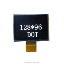 MCU Seiral interface 3-wire SPI 128x96dots white small oled display module for portable devices and fashion electronic design