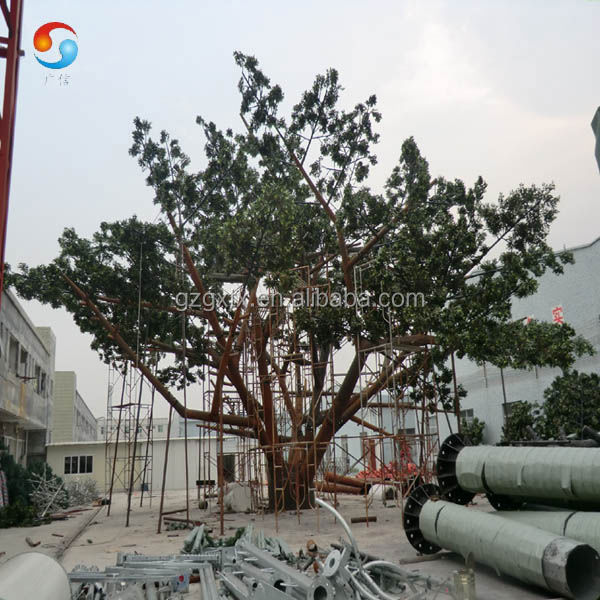 high quality 6m galvanized bionic tree/camouflaged banyan tree/ steel banyan tree