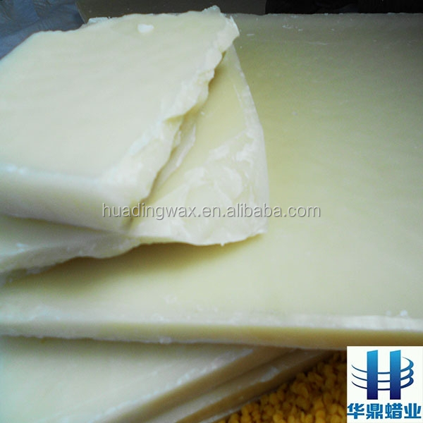 bleached beeswax block with good quality sold to America