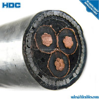 10kv Copper Conductor Material XLPE Insulation MEDIUM VOLTAGE POWER CABLE single copper core XLPE insulated PVC PE sheath