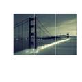 Wholesale Framed Golden Gate Bridge Canvas Printing Cityscape Canvas Digital Prints Wall Decor 3-Panel