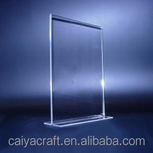 custom standing a4 a5 table acrylic sign display holder