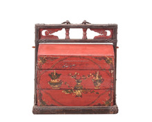 Chinese antique wooden food box