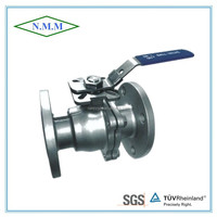 Stainless Steel 2PC Flange Ball Valve, Full Bore, ANSI 150, with ISO 5211