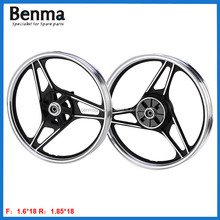 Durable 1.6*18 1.85*18 A356 aluminum alloy motorcycle wheel rims for YBR125