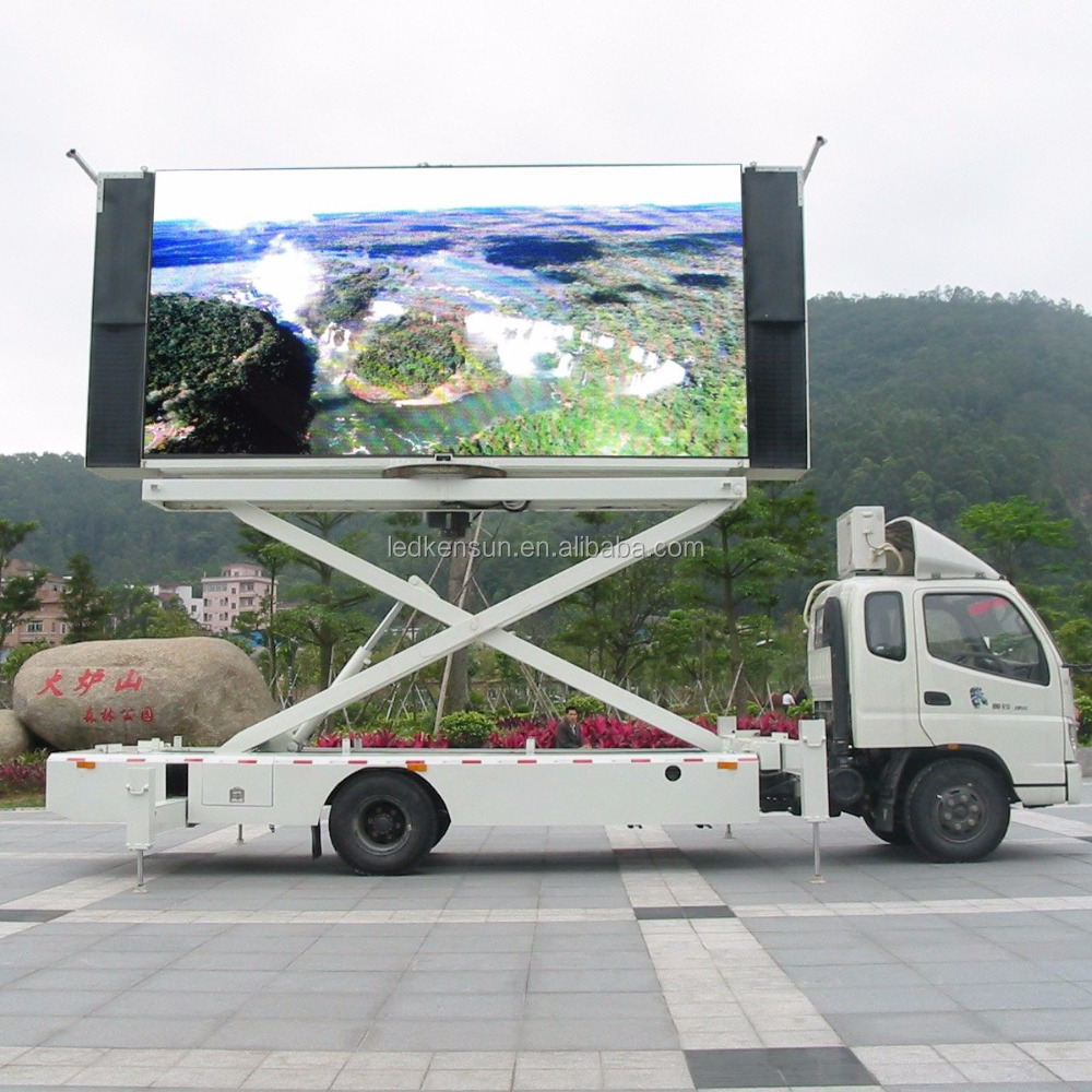 P10 outdoor Truck mobile full color LED advertising display /LED panel /led mobile advertising trucks for sale