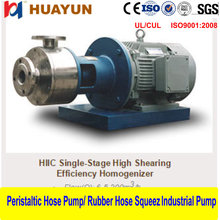 Single Stage Inline High Shear Mixer/Emulsifier/homogenizer Inline high efficiency emulsion pump/high shear emulsifying machine