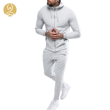 Custom Fitness Wear Running Apparel Hoodie Sweat Top Bottom Jogger Pant Tracksuit Set