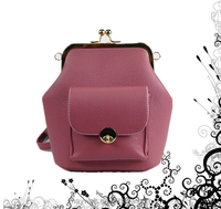 2016 Newest Strip D.Pink PU Women Elegant Backpack