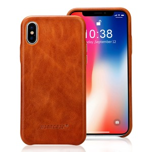 New! Leather phone cover case Luxury Genuine Leather Mobile Phone Case for iPhone X , Leather Folio Case for iPhoneX