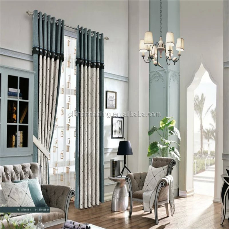 The hot sale hotel curtain fancy office window curtains for Hotel drapes for sale