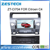 car multimedia system for citroen c4 car dvd player with gps navigation