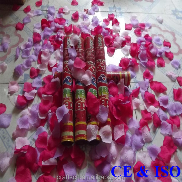 2015 best quality excellent rose petal wedding confetti shooter