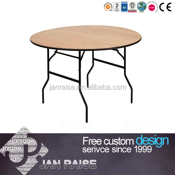 Round Wood Folding Banquet Table OK-12106