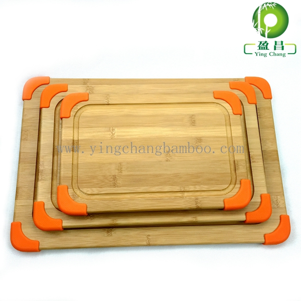 Non Slip silicone Bamboo chopping boards