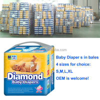 Diamond Baby diapers in bales