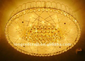 Hot-Selling Decorative Round Crystal Ceiling for Living Room Funiture Decoration LRC032