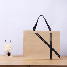 LE Customized craft cost production paper bag recyclable kraft paper bag