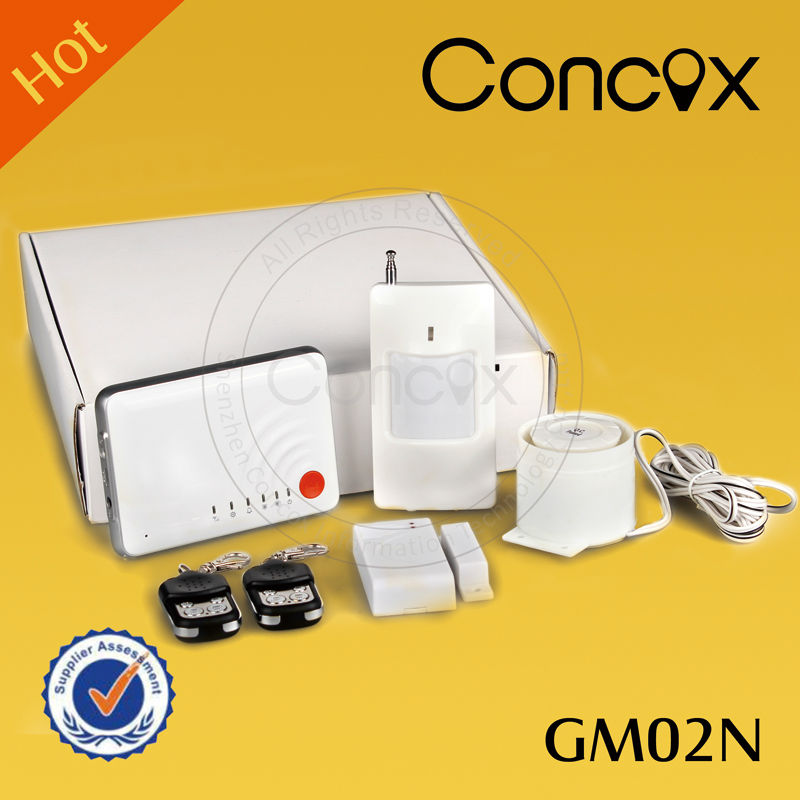 Electric wireless alarm GM02N move alarm sensor / infrared smoke detector with all kinds of sensors