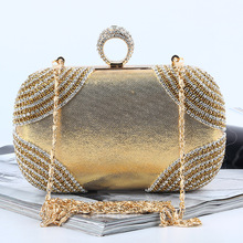Wholesale evening bags clutch bags made in China with elegant crystal