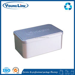 round tin case for food package with lid