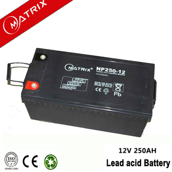 Lead acid 12v 250ah agm battery with good prices
