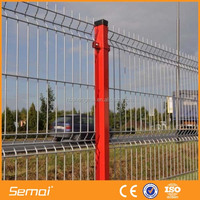 Cheap Galvanized Powder Coated Welded Metal Fence Panels