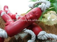 Vinyl Sausage Pet Toy With Squeaky